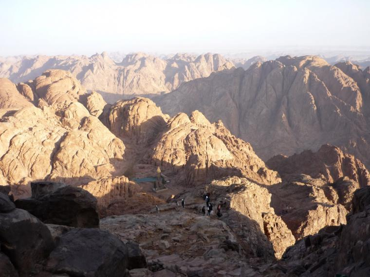 Mount Sinai (Moses Mountain) From Sharm El-sheikh